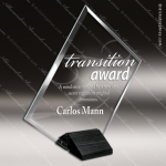 Glass Black Accented Summit Magellan Trophy Award Black Accented Glass Awards