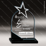Glass Black Accented Star Corona Borealis Trophy Award Black Accented Glass Awards