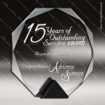 Glass Black Accented Octagon Asteria Trophy Award Black Accented Glass Awards