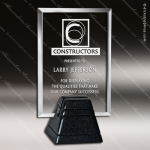 Glass Black Accented Rectangle Durango 1 Trophy Award Black Accented Glass Awards