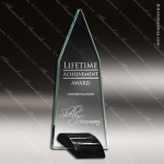 Glass Black Accented Arrowhead Ebony Peak Trophy Award Black Accented Glass Awards