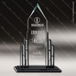 Maccord Cathedral Glass Black Accented Arrowhead Trophy Award Black Accented Glass Awards