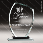 Maccord Summit Glass Black Accented Trophy Award Black Accented Glass Awards