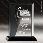 Maccord Wave Glass Black Accented Rectangle Curve Trophy Award Black Accented Glass Awards