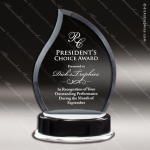 Maccord Tear Glass Black Accented Drop Trophy Award Black Accented Glass Awards