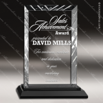 Jacqueline Glass Black Accented Rectangle Premier Edge Trophy Award Black Accented Glass Awards