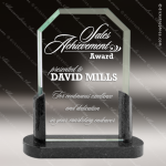 Jamaica Rectangle Glass Black Accented Clipped Corner With Black Marble Black Accented Glass Awards
