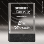 Jamaico Rectangle Glass Black Accented Marble Trophy Award Black Accented Glass Awards