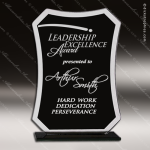 Jailor Rectangle Glass Black Accented Gloss Trophy Award Black Accented Glass Awards