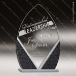 Jacmel Arrowhead Glass Black Accented Designer Trophy Award Black Accented Glass Awards