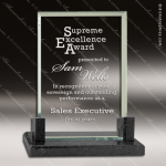 Jacques Rectangle Glass Black Accented Premier With Black Marble Base Black Accented Glass Awards