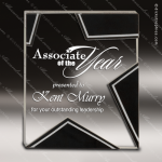 Jagger Stellar Glass Black Accented Silver Star Trophy Award Black Accented Glass Awards