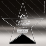 Jagger Star Glass Black Accented Large Trophy Award Black Accented Glass Awards
