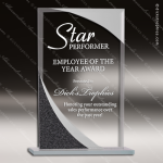 Jacmel Rectangle Glass Black Accented Designer Trophy Award Black Accented Glass Awards