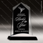 Taejon Apex Glass Black Accented Tower Trophy Award Black Accented Glass Awards