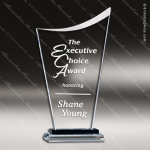 Taejon Summit Glass Black Accented Starfired Sail Trophy Award Black Accented Glass Awards