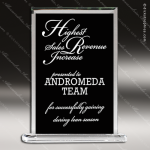 Taejon Rectangle Glass Black Accented Standing Plaque Trophy Award Black Accented Glass Awards