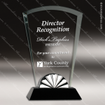 Jacobin Arch Glass Black Accented Horizon Silver Trim Trophy Award Black Accented Glass Awards