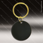 The Jafari Engraved Black Brass Keychain Key Ring Round Circle Black Brass Keychains