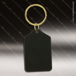 The Jafari Engraved Black Brass Keychain Key Ring Rectangle Tablet Black Brass Keychains