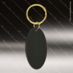 The Jafari Engraved Black Brass Keychain Key Ring Oval Black Brass Keychains