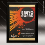 Engraved Black Piano Finish Plaque Gold Channel Award Black Piano Finish Plaques
