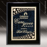 Engraved Black Piano Finish Plaque Blue Star Galaxy Award Black Piano Finish Plaques