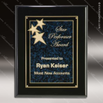 Engraved Black Piano Finish Plaque Blue Star Constellation Awa Black Piano Finish Plaques