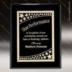Engraved Black Piano Finish Plaque Black Star Galaxy Wall Placard Award Black Piano Finish Plaques