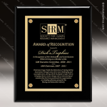 Engraved Black Piano Finish Plaque Black Plate - Style 4 Black Piano Finish Plaques