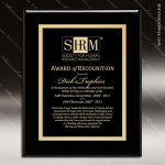 Engraved Black Piano Finish Plaque Black Plate - Style 3 Black Piano Finish Plaques