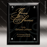 Engraved Black Plaque Floating Jade Glass Wall Placard Award Black Piano Finish Plaques