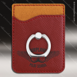 Embossed Etched Leather Phone Wallet with Ring -Rose' Black Rose Leather Items