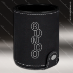 Embossed Etched Leather Dice Cup Set -Black/Silver Black Silver Leather Items