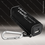 Embossed Etched Leather 2200mAh Power Bank -Black/Silver Black Silver Leather Items