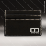 Embossed Etched Leather Wallet Clip Black Silver Gift Black Silver Leather Items