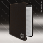 Embossed Etched Leather Portfolio With Zipper Black Silver Gift Black Silver Leather Items