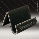 Embossed Etched Leather Easel Stand Holder Black Silver Gift Black Silver Leather Items