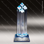 Acrylic Blue Accented Diamond Tower Trophy Award Blue Accented Acrylic Awards