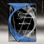 Acrylic Blue Accented Hooks Three Layer Trophy Award Blue Accented Acrylic Awards
