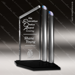 Acrylic Blue Accented Two Post Accented Trophy Award Blue Accented Acrylic Awards