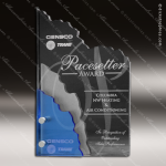 Acrylic Blue Accented Three Layer Pines Trophy Award Blue Accented Acrylic Awards