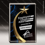 Acrylic Blue Accented Marbleized Shooting Star Trophy Award Blue Accented Acrylic Awards