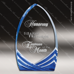 Acrylic Blue Accented Peak Soaring Cathedral Trophy Award Blue Accented Acrylic Awards