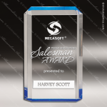 Acrylic Blue Accented Rectangle Premier Trophy Award Blue Accented Acrylic Awards