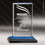 Acrylic Blue Accented Mirage Impress Trophy Award Blue Accented Acrylic Awards