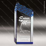 Acrylic Blue Accented Riptide Peak Trophy Award Blue Accented Acrylic Awards