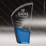 Acrylic Blue Accented Lunar Trophy Award Blue Accented Acrylic Awards