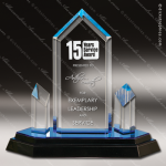 Acrylic Blue Accented Jewel Tower Impress Trophy Award Blue Accented Acrylic Awards