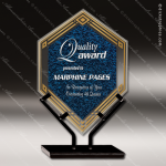 Acrylic Blue Accented Infinity Double Diamond Trophy Award Blue Accented Acrylic Awards